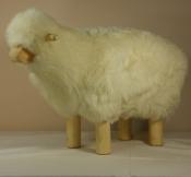 Mouton Déco - H 40cm -  écru
