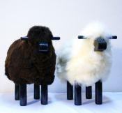 Mouton Déco Bois Noir - H 40cm